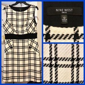 NINE WEST Houndstooth Dress
